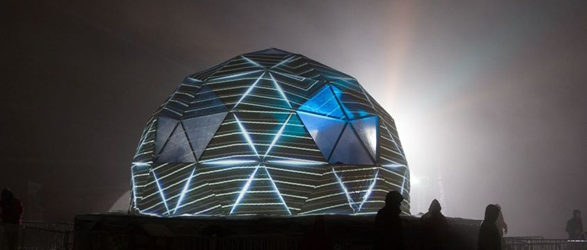 VJ Zero : OHM 360 project (Video mapping on geodesic dome)