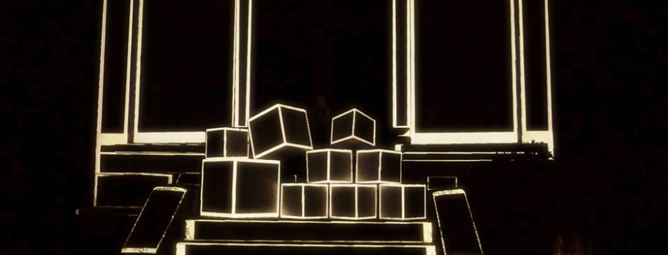 Mysterious Kid: Video mapping on 3D cubes